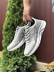 Чоловічі кросівки Asics (світло-сірі з білим) 9619, фото 2