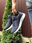 Чоловічі кросівки Asics (синьо-сірі з білим) 9620, фото 2