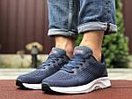 Чоловічі кросівки Asics (синьо-сірі з білим) 9620, фото 3