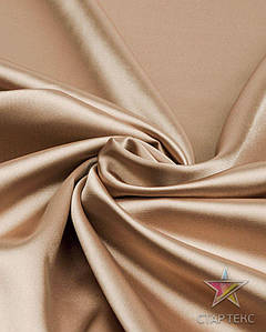 Ткань Атлас стрейч тонкий бронзовый