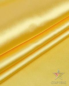 Ткань Атлас стрейч тонкий желтый