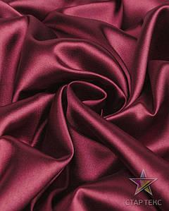 Ткань Атлас стрейч тонкий марсала