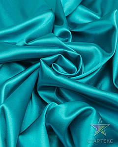 Ткань Атлас стрейч тонкий морская волна