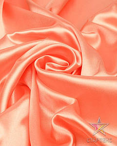 Ткань Атлас стрейч тонкий персик