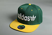 Кепка Snapback Adidas 21434 зелено-желтая