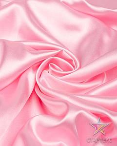 Ткань Атлас стрейч тонкий розовый