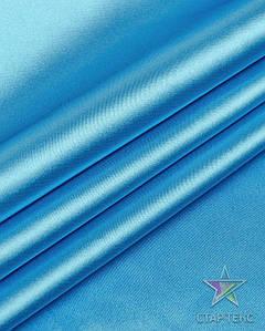 Ткань Атлас стрейч тонкий светло голубой