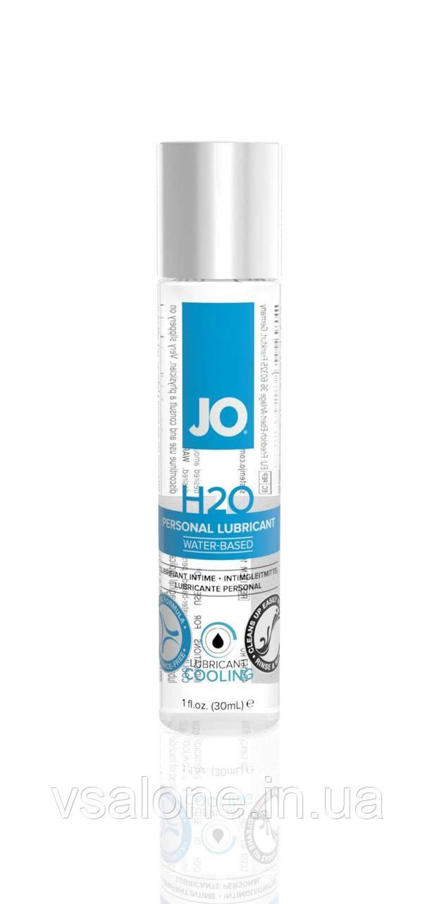 Охлаждающий лубрикант на водной основе System JO H2O COOLING (30 мл) с ментолом, растительный глицерин