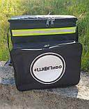 Термосумка - рюкзак для напоїв, пива з перегородкою і накладними кишенями, фото 6