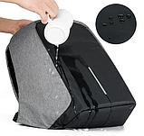 Рюкзак антивор Bobby c защитой от карманников и с USB для зарядки серый, фото 4