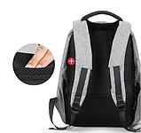 Рюкзак антивор Bobby c защитой от карманников и с USB для зарядки серый, фото 5