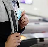 Рюкзак антивор Bobby c защитой от карманников и с USB для зарядки серый, фото 6
