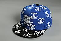 Кепка Snapback Chanel 21435 сине-черная