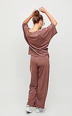 Женский костюм с брюками кюлотами, в расцветках, р.S-М, М-L, фото 2