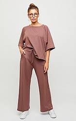 Женский костюм с брюками кюлотами, в расцветках, р.S-М,М-L