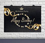 """Плакат для праздника  """"Happy Birthday Black""""  75 СМ Х 120 СМ"""