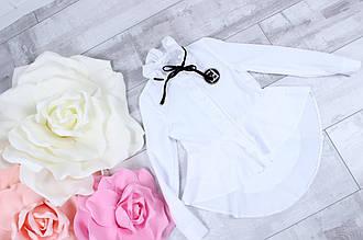 Стильная блузка для девочки длинным рукавом в школу р.122-152 опт