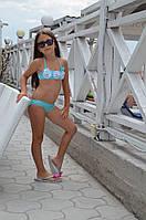 Детский купальник топ Della Irmina A 110 Бирюзовый Della Irmina A