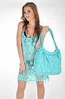 Большая кружевная пляжная сумка Iconique KH 611 A One Size Бирюзовый Iconique KH 611 A
