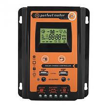 Контроллер заряда солнечных батарей PWM оранжевый