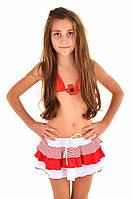 Красная детская юбка Amarea 17920 122 Красный Amarea 17920