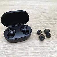 Беспроводные блютуз наушники вакуумные черные Xiaomi Redmi AirDots