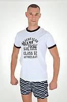 Белая пляжная футболка David Man D1 3970 48(M) Белый David Man D1 3970