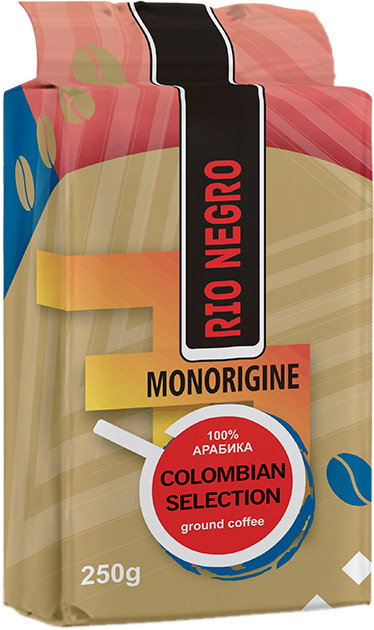 Кофе молотый RIO NEGRO Colombian Selection 100% Arabica, 250г