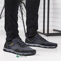Кросівки чоловічі сітка сірі 41р, фото 2
