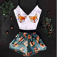 Пижамы летние женские. Лисички