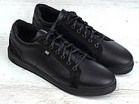 Кожаные кроссовки черные кеды обувь мужская демисезонная Rosso Avangard Puran Night Black