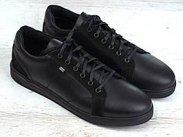 Шкіряні кросівки чорні кеди взуття чоловіче демісезонне Rosso Avangard Puran Night Black