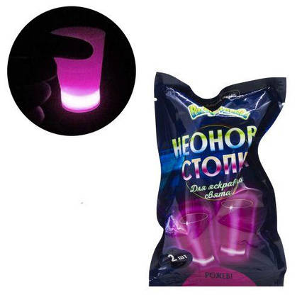 Неоновая стопка, розовый PL112