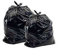 Мешки полиэтиленовые плотные черные для упаковки товара 65х100 см.100 мкм.50 кг. (25 шт/уп).