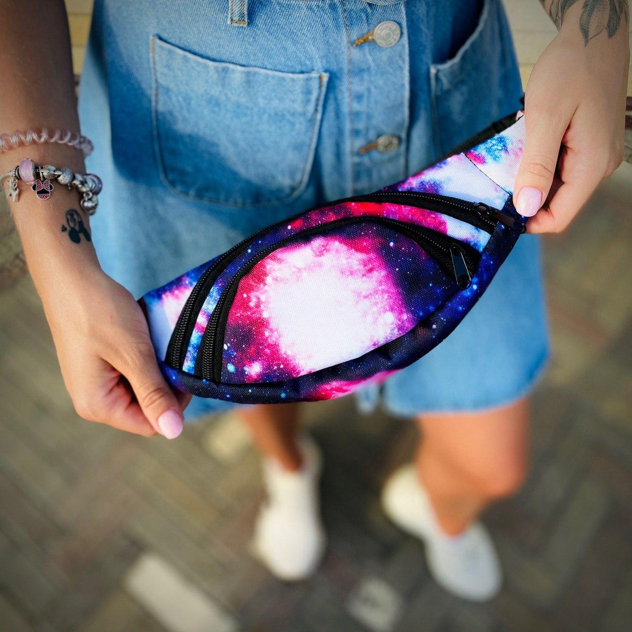 Бананка Space Мужская | Женская | Детская Космос сумка на пояс
