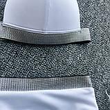 Купальник жіночий роздільний з сріблястою обробкою, з високою талією, розмір S (чорний), фото 7