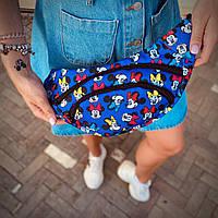 Бананка Mickey Mouse Мужская | Женская | Детская Микки маус синяя