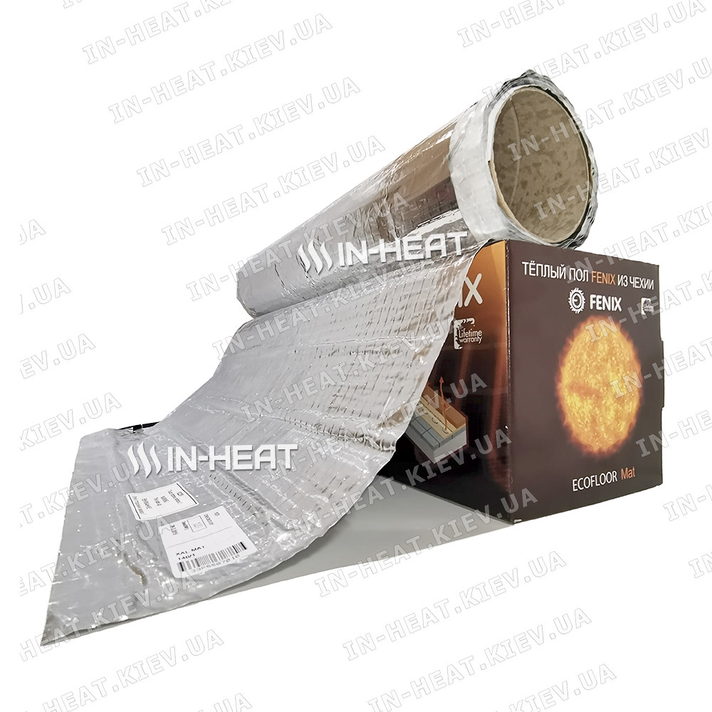 Кабельный теплый пол под ламинат  FENIX AL MAT 140 / 3 м² / 420 Вт / Ультратонкий электрический теплый пол