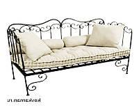Кованый диван 5( подушки заказывать отдельно)