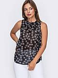 Шифонова блузка без рукавів ЛІТО, фото 5