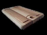 Доска разделочная 30х20 см. кухонная клееная деревянная из ясеня РД-1, фото 2