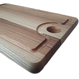 Доска разделочная 30х20 см. кухонная клееная деревянная из ясеня РД-1, фото 4