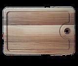 Доска разделочная 30х20 см. кухонная клееная деревянная из ясеня РД-1, фото 3