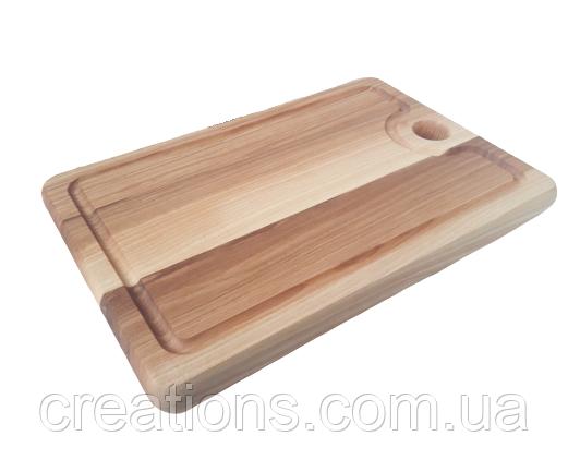 Доска разделочная 30х20 см. кухонная клееная деревянная из ясеня РД-1