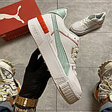 Женские кроссовки Puma Select Cali Sport White Blue, женские кроссовки пума селект кали спорт, фото 5