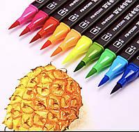 Акварельные маркеры SketchMarker двусторонние для бумаги набор 24 шт