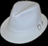 Шляпа мужская летняя белая льняная большого размера 59-61
