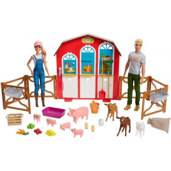 Barbie Барби и Кен набор ферма Сладкий сад Sweet Orchard Farm Barn Playset