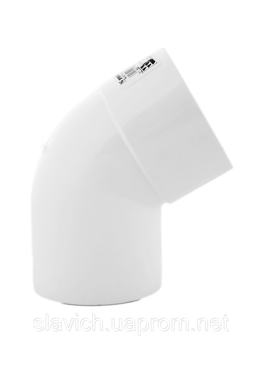 Колено белое 60° 90/75 Profil