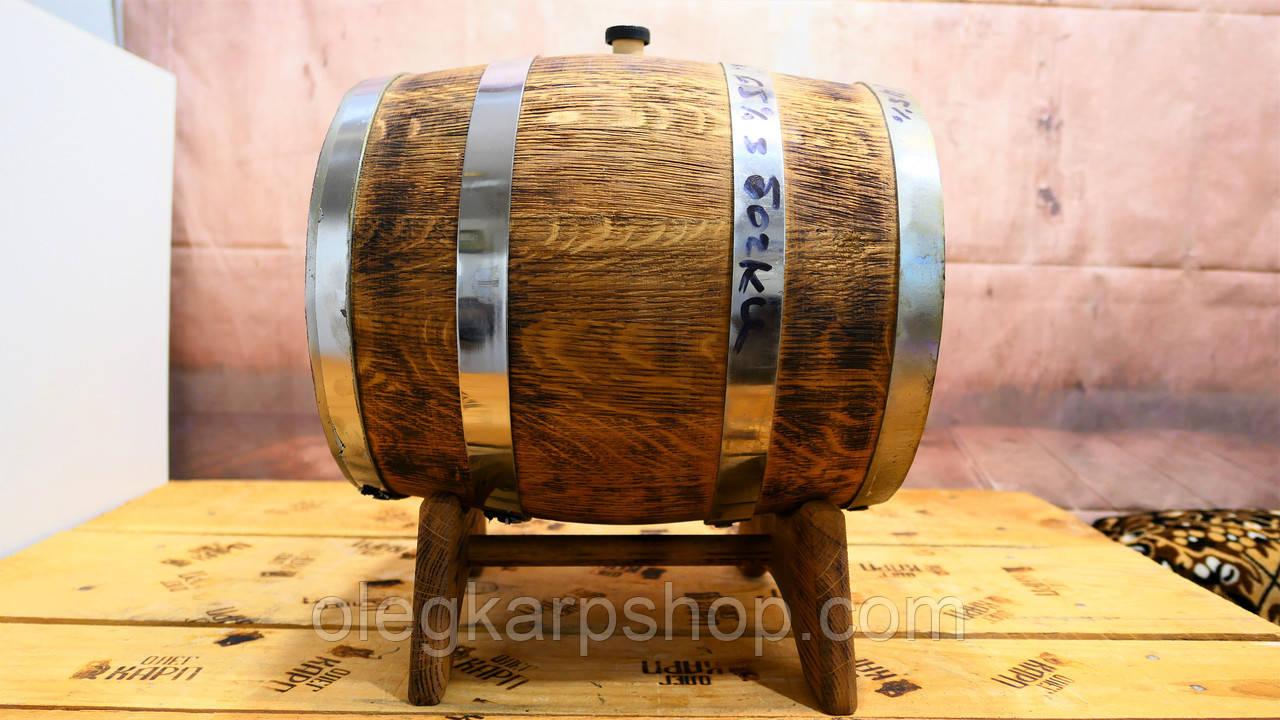Бочка с виски 10 л, наполнена 24.06.2020